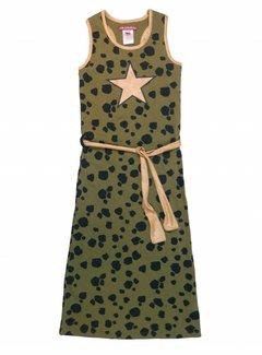 LoveStation22 Lange jurk Nora  groen