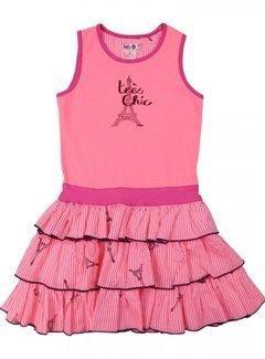 LoFff Jurk roze ruffled skirt