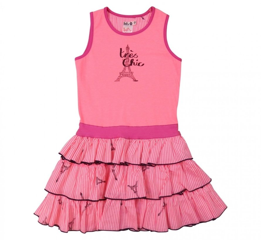 Jurk roze ruffled skirt van  LoFff