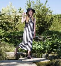 LavaLava Maxi jurk 'Catwalk' zwart wit