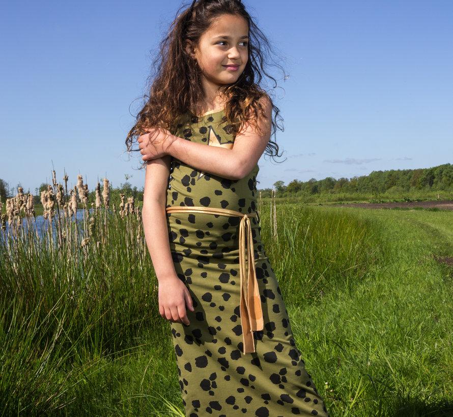 Lange jurk / maxidress Nora groen  Lovestation22, zomer 2019