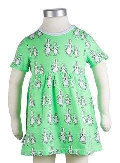 JNY Design Zomerjurkje 'funny bunny', maat 92 en 98