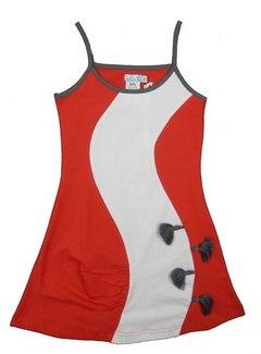 LoFff TOPPER: rood jurkje met witte baan