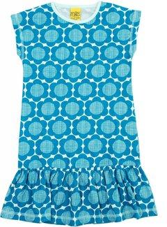 MTAF Bloemenjurkje blauw, maat 146/152