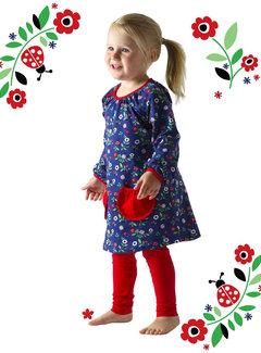 JNY Design Tuniek jurkje met lieveheersbeestjes , maat 128