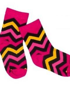 JNY Design sokken roze zigzag