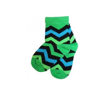 JNY Design sokken groen zigzag