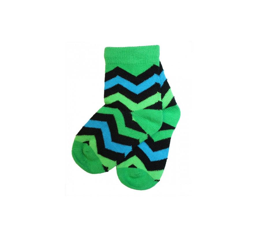 Sokken groen zigzag van JNY Design
