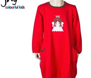 JNY Design Kerstjurkje rood met engel