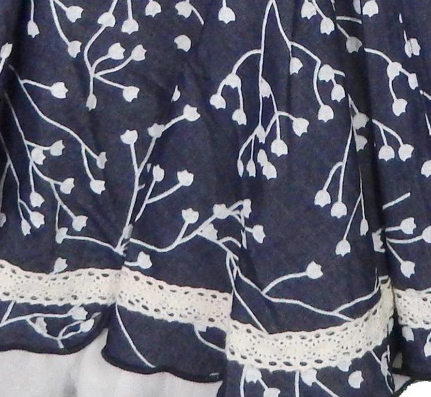Feestjurk in jeansblauw uit de zomercollectie van Lofff
