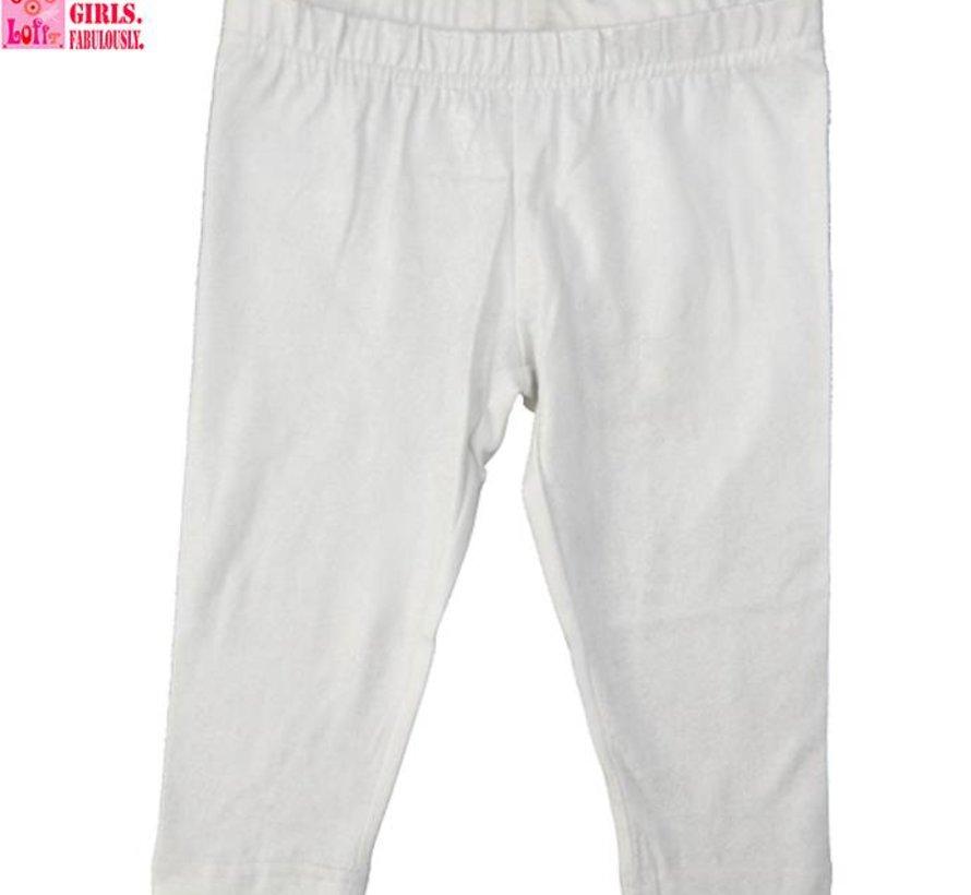 Legging driekwart in wit met een zilverdraadje van LoFff