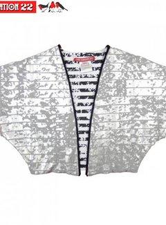 LoveStation22 Kimono vest  Alisa, zilver