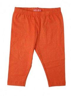 LoFff Legging driekwart oranje met kleine glinsterende puntjes