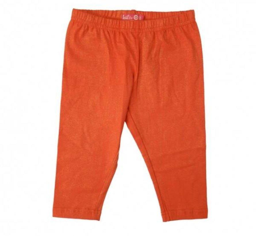 Legging driekwart in oranje met een koperdraadje van LoFff