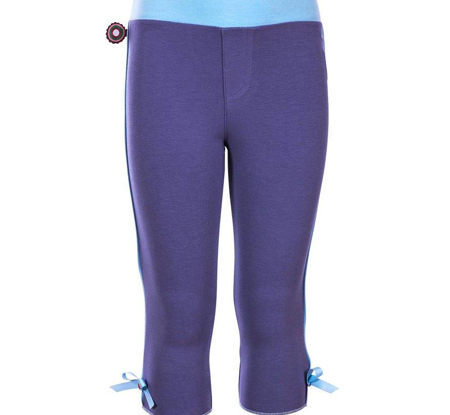 4FunkyFlavours driekwart legging lilablauw 'Wnat you so bad'