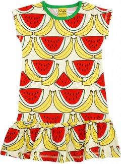 DUNS Sweden Meloen en bananenjurkje met korte mouw