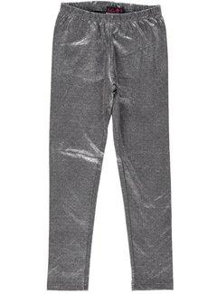 LoFff Zilveren legging lang, maat 164 en 176