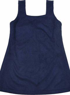 Soekartien -hand made  Blauw suede jurkje