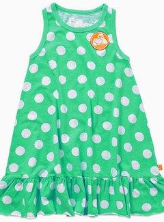 Danefae jurkjes 60% korting: zomerjurkje groen met witte stippen