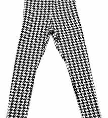 Soekartien -hand made  Zwart wit legging