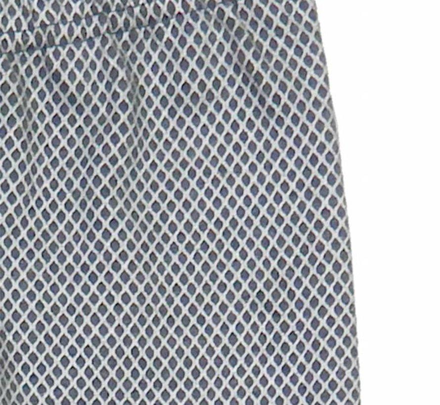 Legging donkergrijs melange met zilver raster