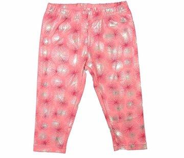 LoFff Legging 3/4 pink zilver