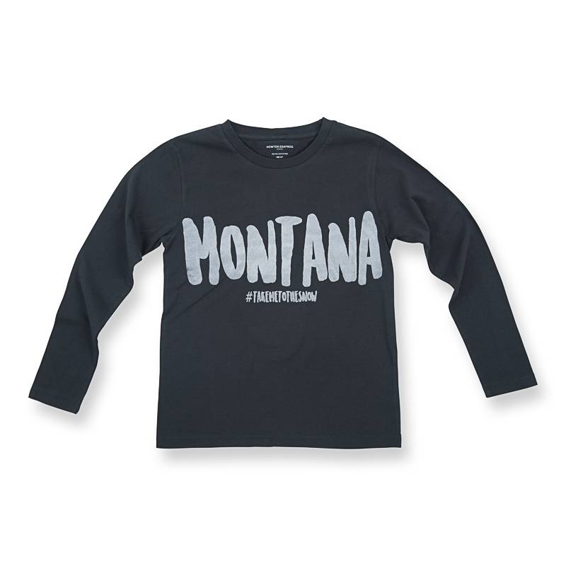 How to kiss a frog Longsleeve tee montana. LAST SIZE : 10Y!