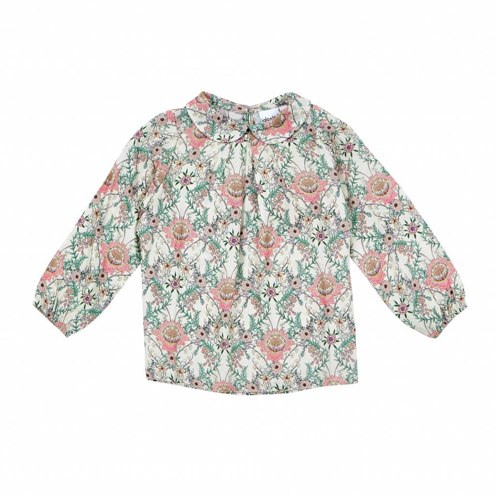 Iglo + Indi Flower blouse pearl