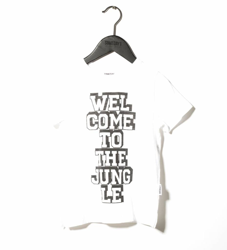 Someday Soon Welcome tee white