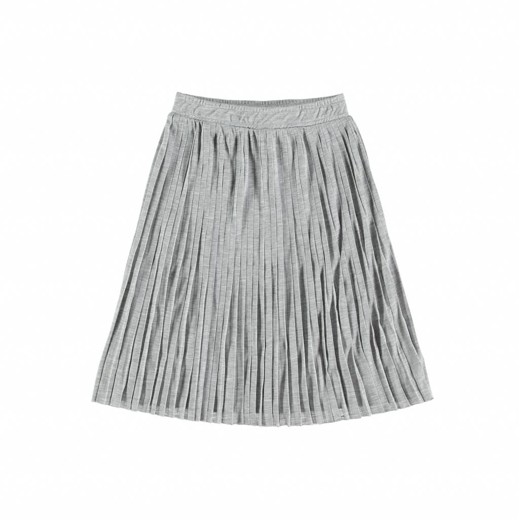 Yporqué Plated skirt grey melange