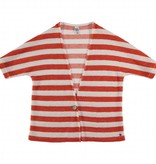Miss Chips Kimono style cardigan red white stripes