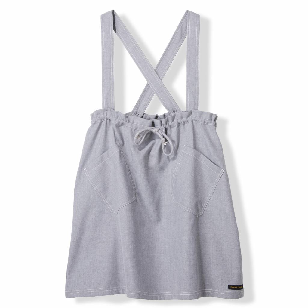 Finger in the nose Pinafore dress heather grey