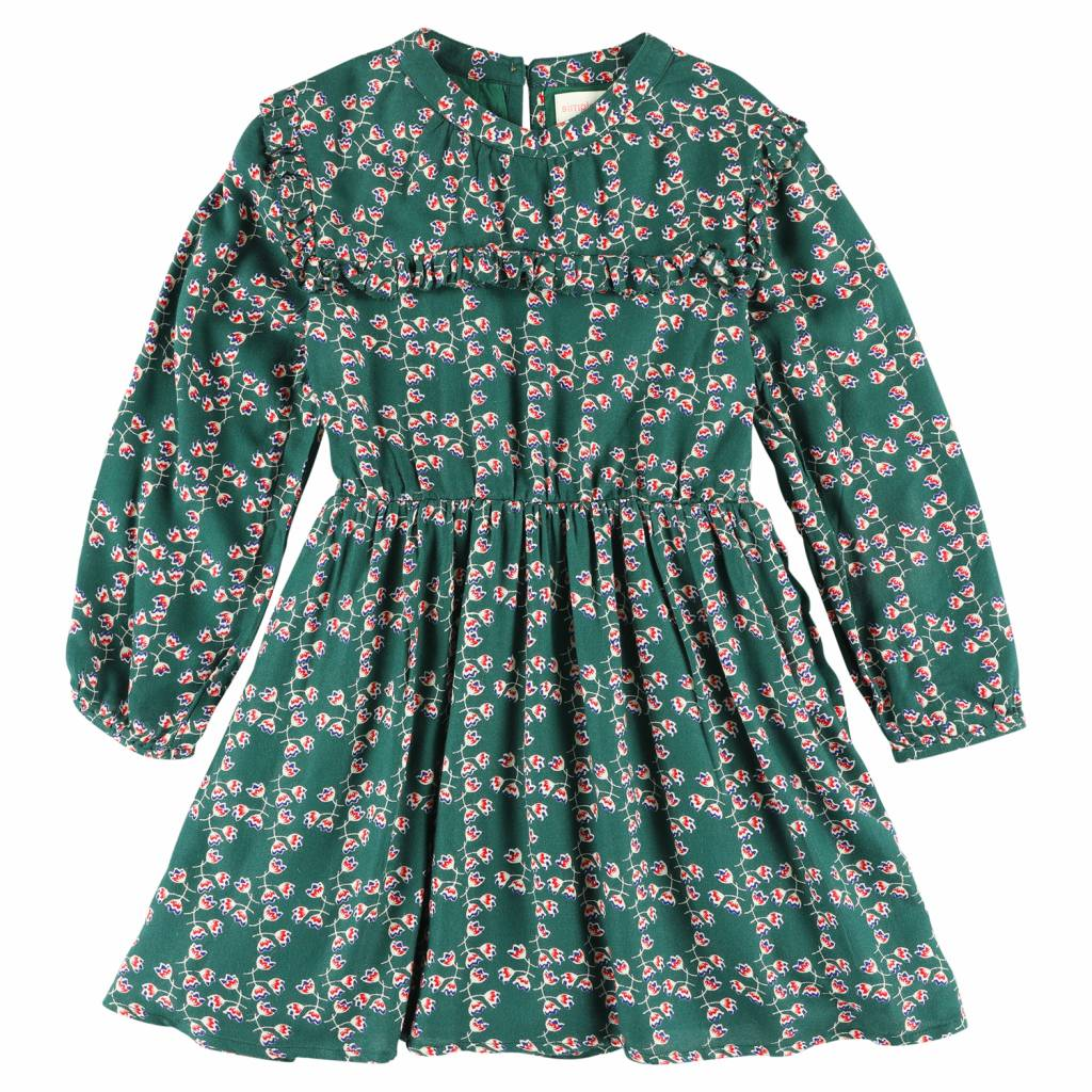Simple Kids Pearl lennon dress green. Shop nu! - MAD&MOISELLE