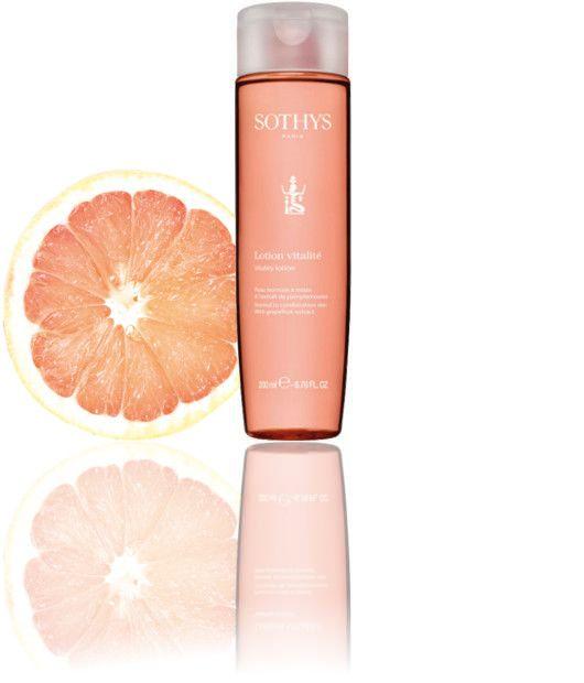 Sothys Reinigings Lotion voor de normale tot gemengde huid Vitalité lotion Grapefruit geur