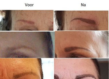 Microblading wenkbrauwen Permanente make-up