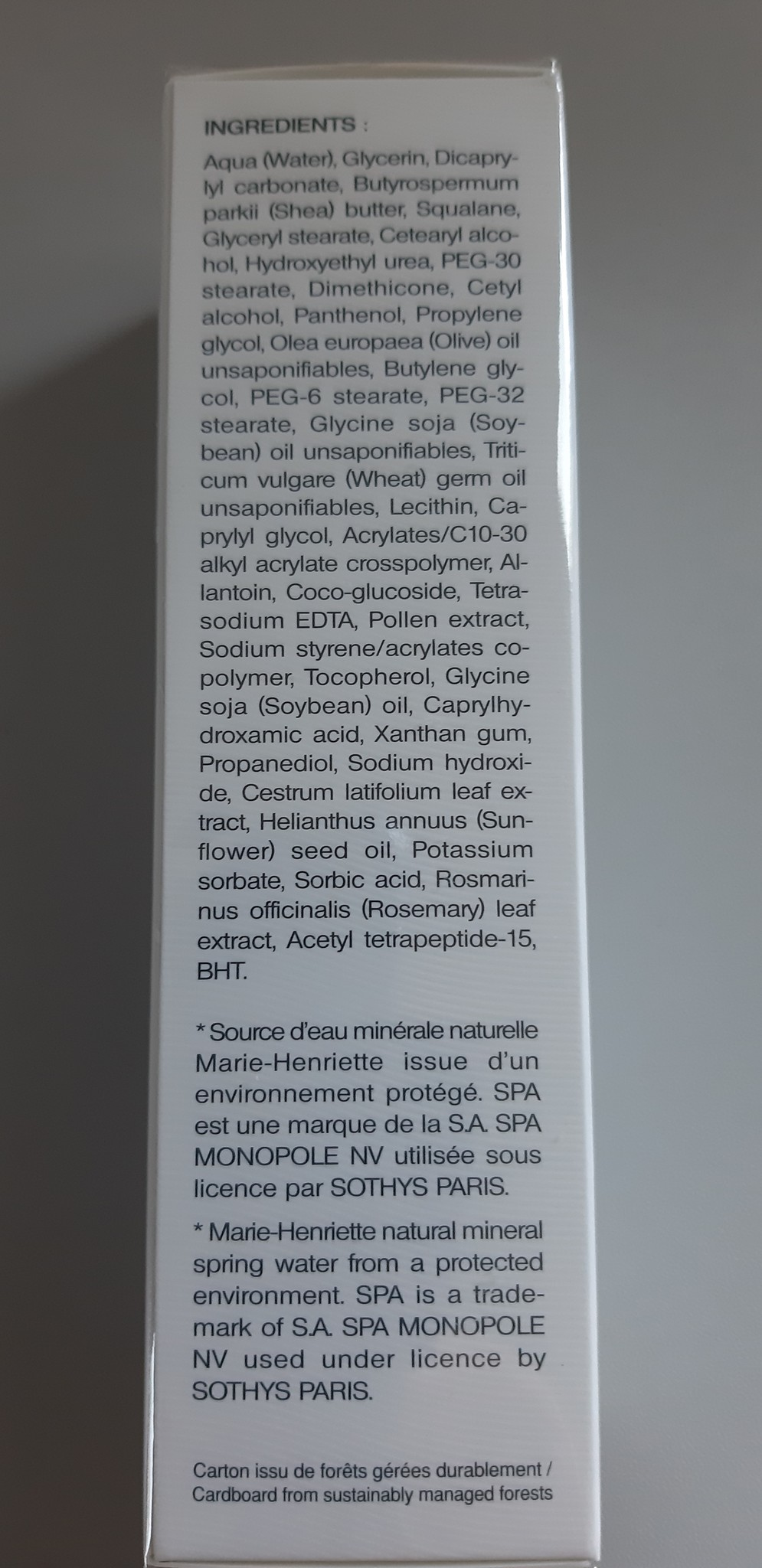 Sothys Gevoelige huid Spa Crème Veloutée Apaisante