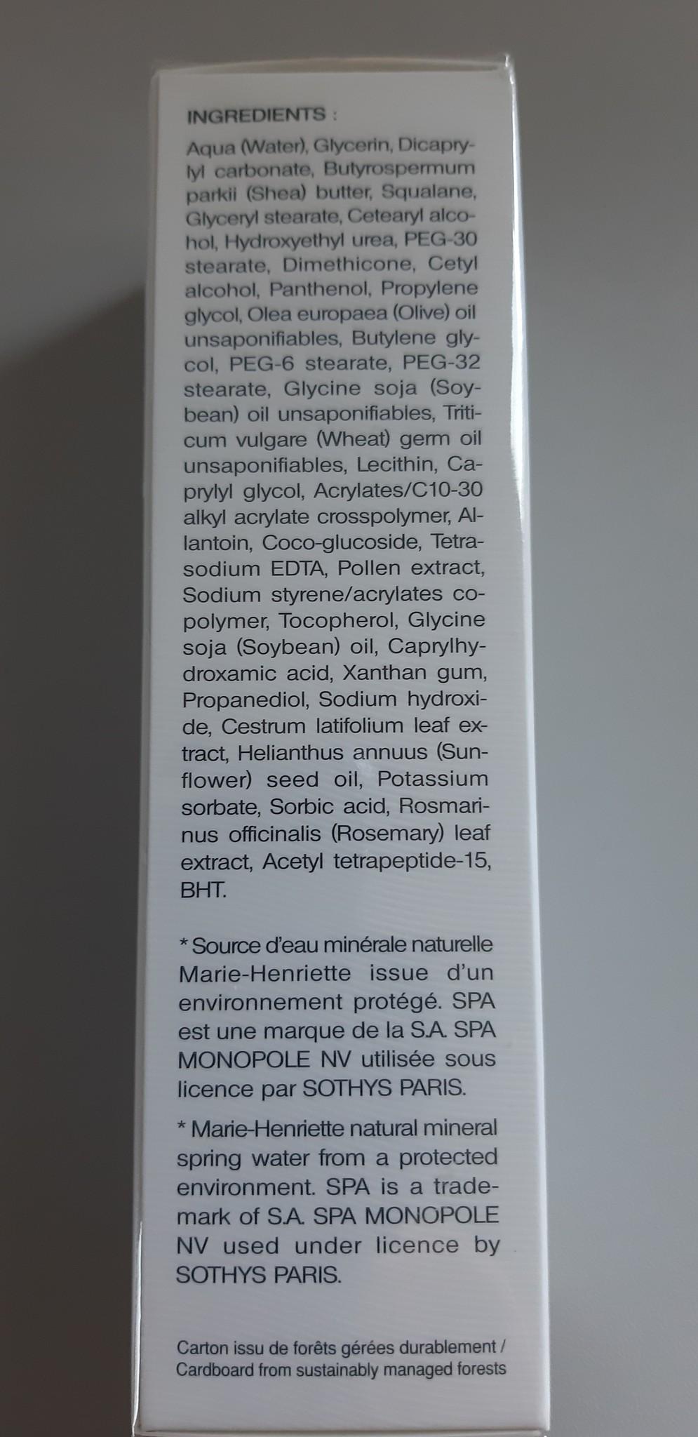 Sothys Spa Crème Veloutée Apaisante crème voor de gevoelige huid