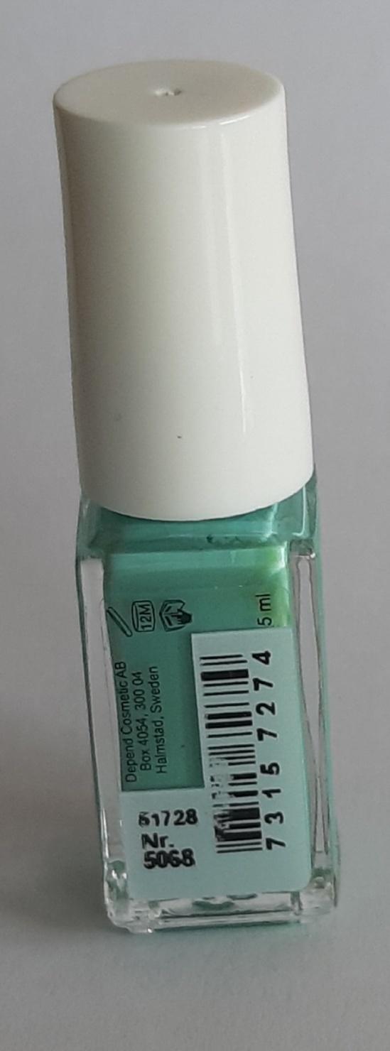 Mykored Anti-Voetschimmel en O2 Depend Nagellak Nagellak O2 Depend zuurstof doorlatend nr. 5068 pastel blauw turqoise