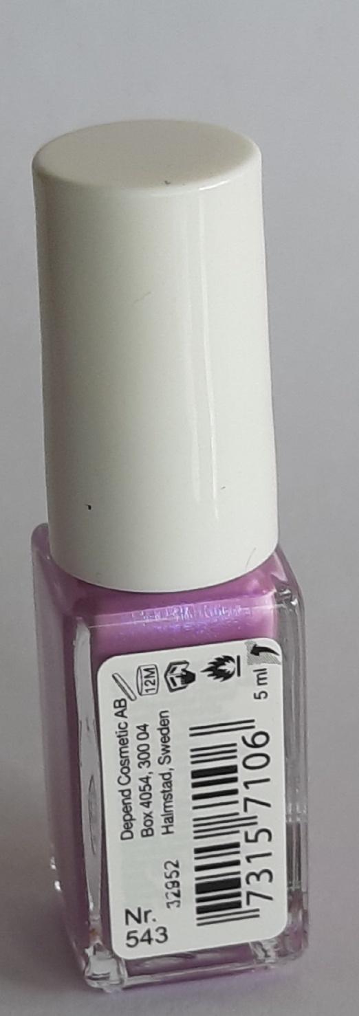 O2 Depend Nagellak zuurstofdoorlatend Nagellak O2 Depend zuurstof doorlatend nr. 543 lila