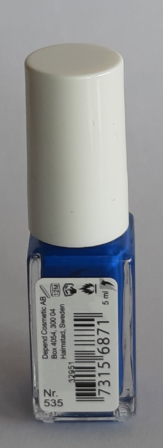 Mykored Anti-Voetschimmel en O2 Depend Nagellak Nagellak O2 Depend zuurstof doorlatend nr. 535 blauw