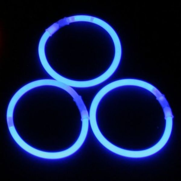 Knicklicht-Armbänder blau (bulk)