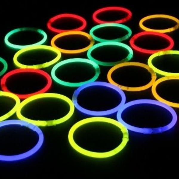 Knicklicht-Armbänder gelb (bulk)