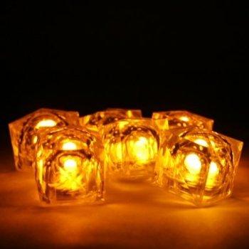 GlowFactory Ijsblokje met licht - Geel