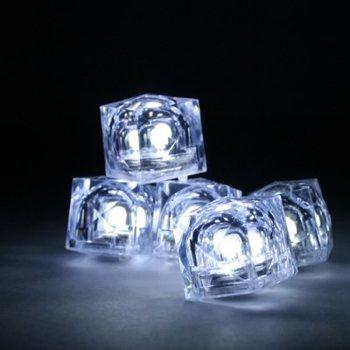 GlowFactory Leuchtende Eiswürfel weiß