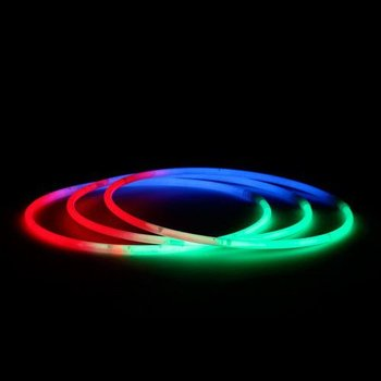 Knicklicht-Halsketten dreifarbig