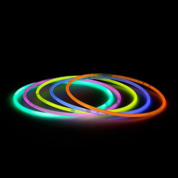 Knicklicht-Halsketten gelb (bulk)