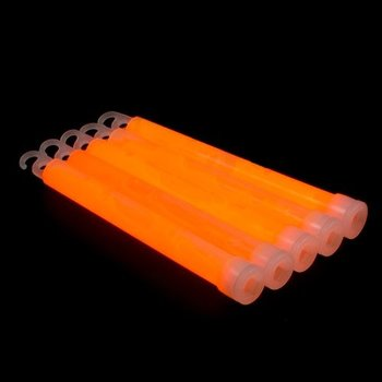 GlowFactory Glowstick 15 x 1 cm - Oranje