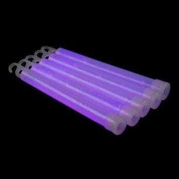 GlowFactory Glowstick 15 x 1 cm - Paars