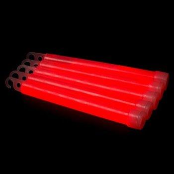 GlowFactory Glowstick 15 x 1 cm - Rood