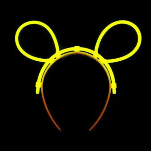 Glow Bunny Ears Connectors Yellow (Bulk)